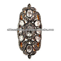 Antique 925 Sterling Silver Rose Cut Diamond Vintage Style Ring Wholesale Supplier