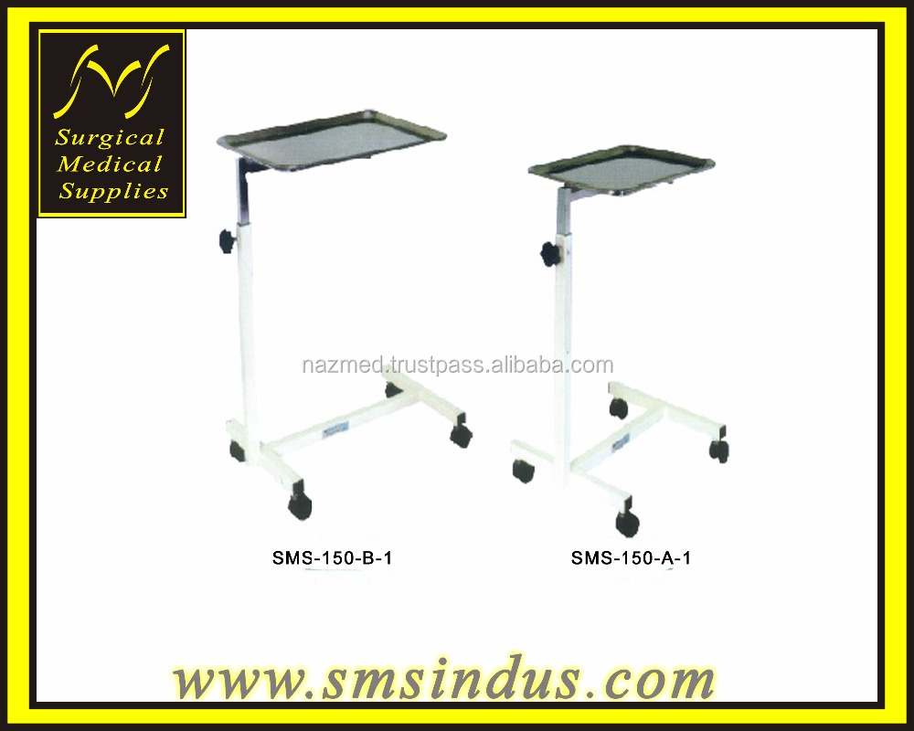 Mayo Instrument Stand Mobile Tray Arm Height Adjustable