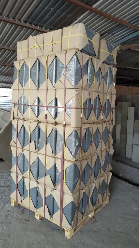 Light Grey Cube Mosaic Cement Pot/planter
