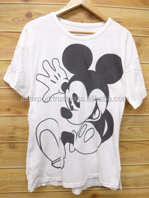 Women mouse T Shirts Cartoon character Tee Printed lady t shirt 2017