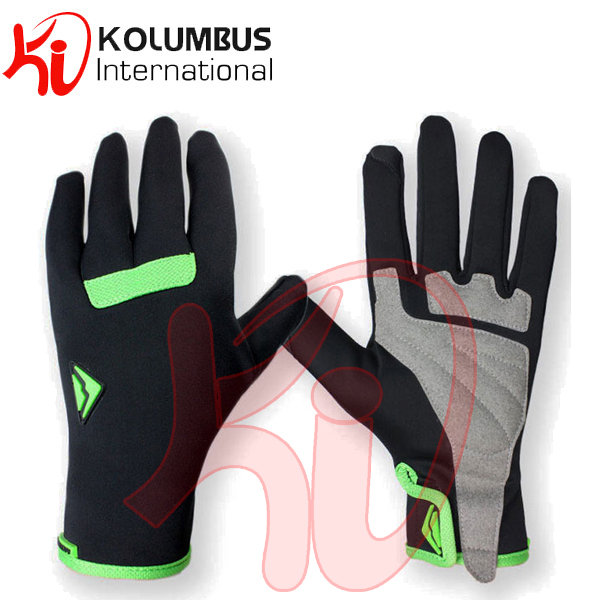 Waterproof Riding Racing Bike Gel Cycling Full Finger Shockproof Gloves, Black Sports Racing Cycle Gloves For Ladies And Gents