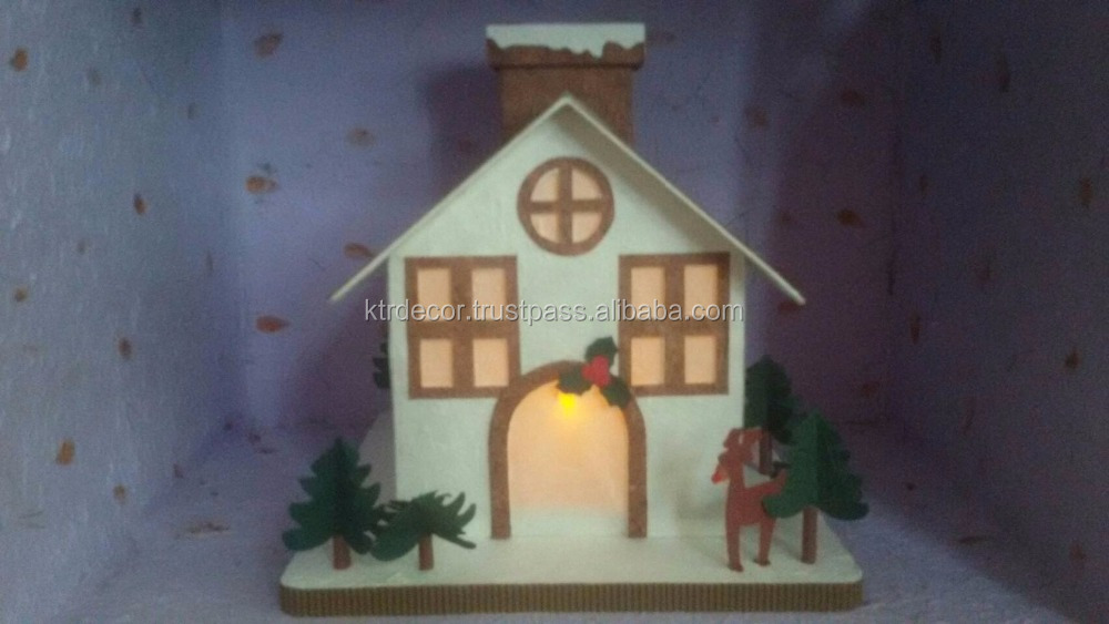 Paper Christmas House Toys