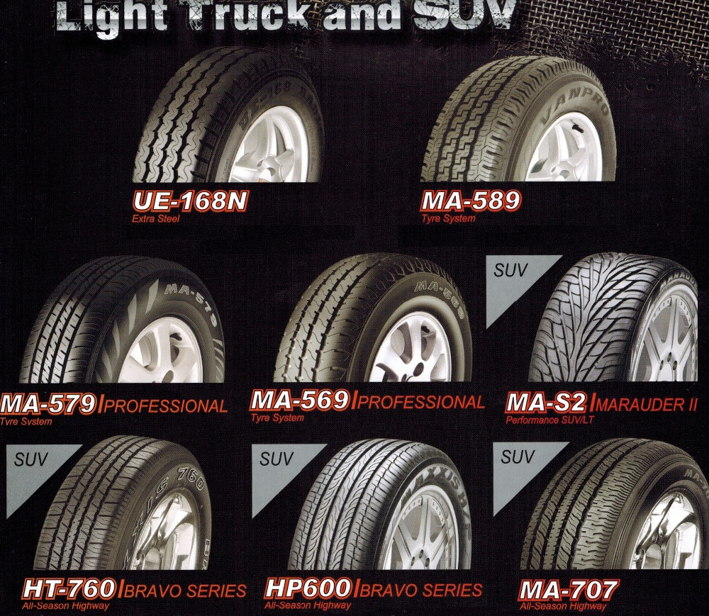 High Quality Best Price Maxxis Tire Passenger Car Tire 255/70R15 HT760 Radial Steel 8 Ply Rating TUBELESS PCR SUV