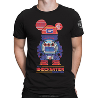 G-Shock Collaboration Bearbrick Custom Design Graphic Cotton Men's T-Shirt DTG Printing
