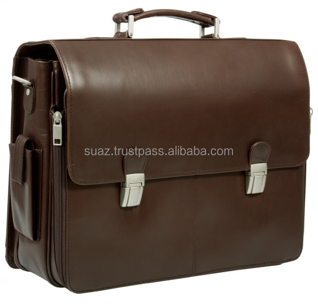Original Leather Bags , Leather computer bags , Luxury Leather Brown Color Laptop Bag , Italian Brown Large Leather briefcase