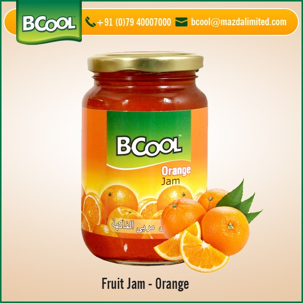 Safe to Consume Excellent Taste Orange Fruit Jam from Reliable Manufacturer