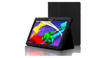 Original Case Cover of Lenovo Tab 2 A10-70 Business Case with Stand and auto wake sleep feature Black