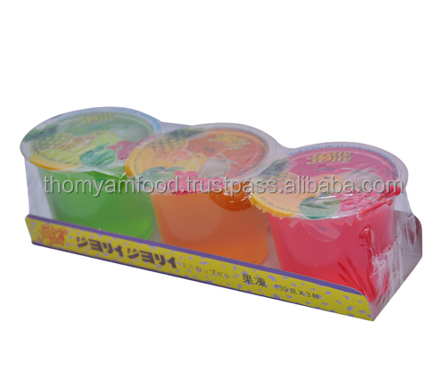 Jolly Jolly Big Cup Jelly 130gm X 3cups X 24trays