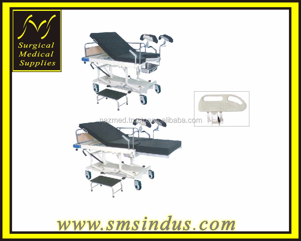 Delivery Obstetric Bed Hydraulic HI LO Gas Assisted Adjustment