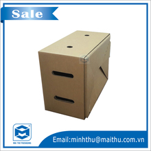 Carton paper box packaging for vegetables: Brown