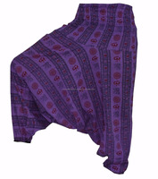 Purple Hip Hop Indian Harem Gypsy Hippie Ali Baba Baggy Yoga Pants Aladdin Boho Loose Trousers