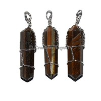 Tiger Eye Double Terminated Pendant
