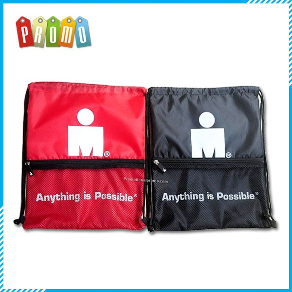 Promotional Cheap Custom Mesh Drawstring Backpack