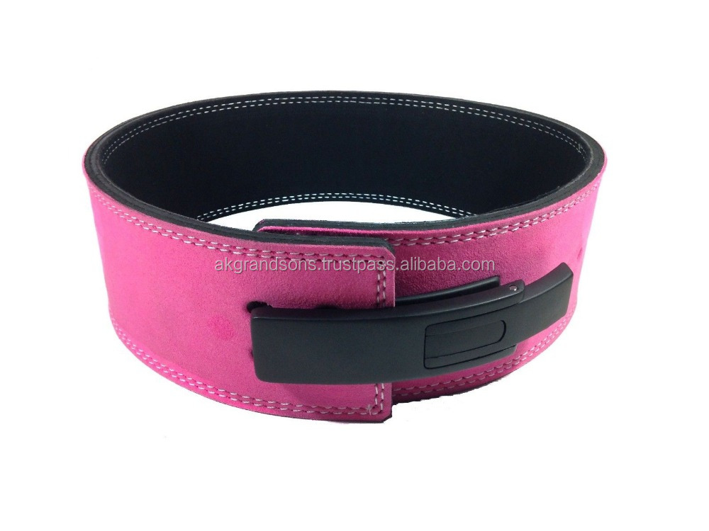 PRO 10-MM LEVER LEATHER WEIGHTLIFTING GYM POWER BELT