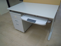 office table with keyboard tray&mobile ped. partition&furniture