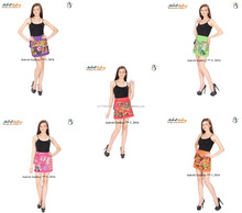 Women short skirt Wholesale hippie dress cotton skirt with pocket summer beach short skirt
