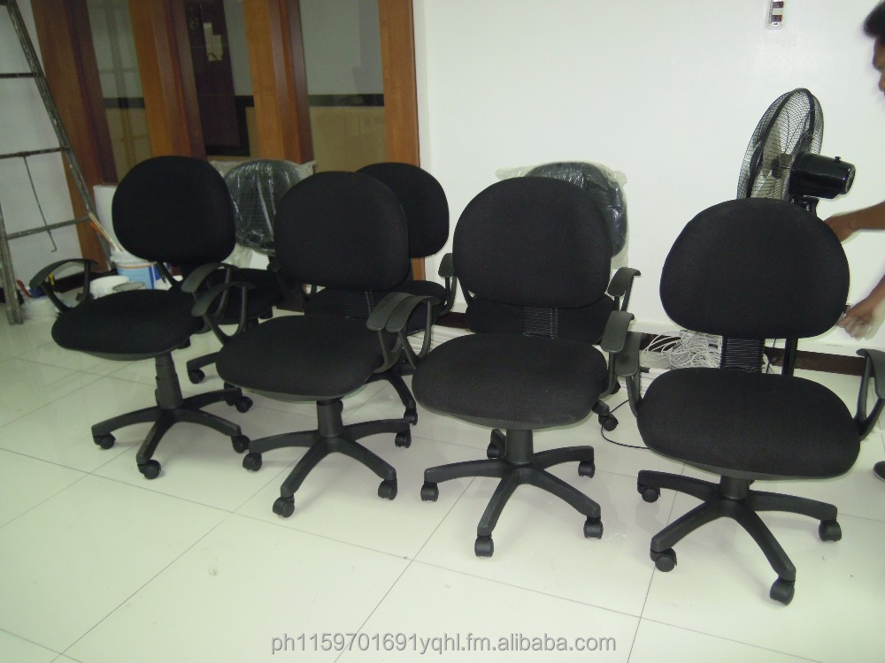 black fabric office chair ( partition & office furniture )
