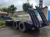 Used low bed trailer , Second-hand low bed truck trailer excavator trailer, Used Flat Bed Semi Trailer (call:0086-15800802908)