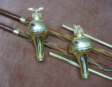 Drum Major Mace Pole Stick - Malacca Cane Maces