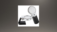 5X Folding stand magnifier hand free magnifying glass with two LED