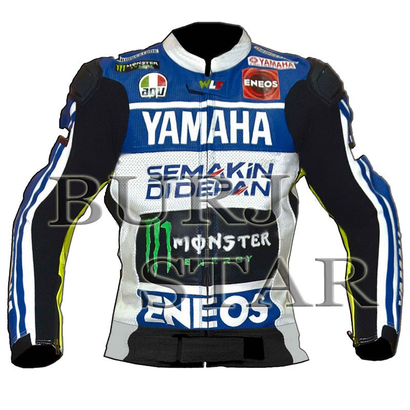Top Quality Full Safety Motorbike Racing Leather Jacket - Genuine Cowhide Leather Jacket