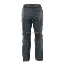 Black Motorcycle Pant/ Motorbike Leather PANT CE Armour to knee & hips