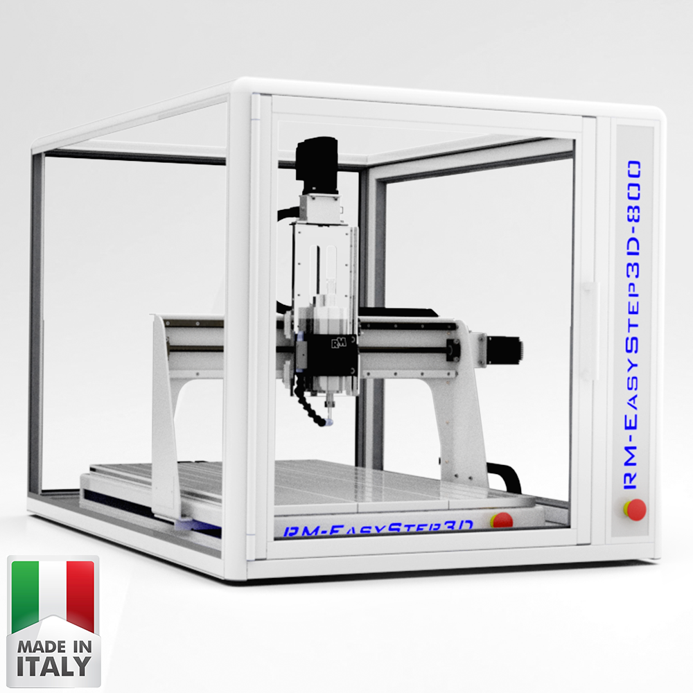 RM-EasyStep3D 1000 | Mini Desktop CNC Router Machine for Milling, Cutting, Engraving.