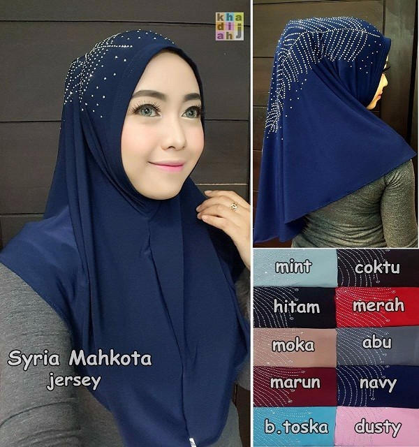 New Beautiful Syria Beaded Hijab - ready wear hijab