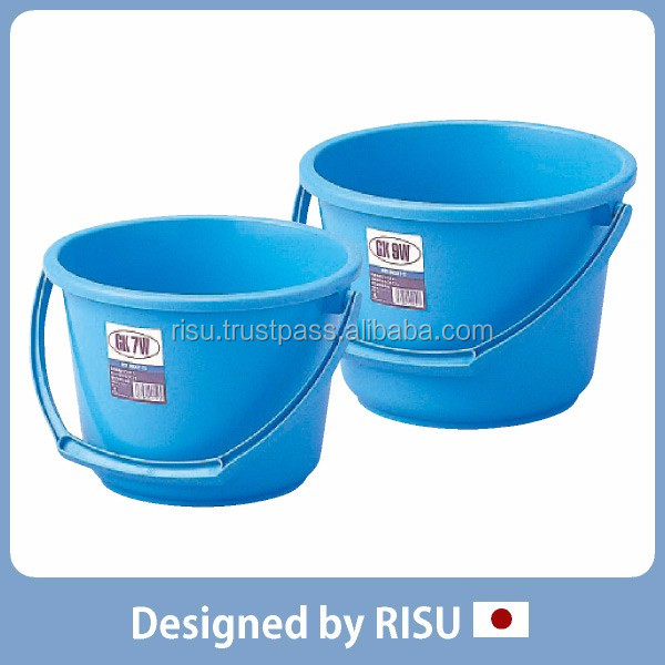 Reliable gardening tool plastic bucket with handle with Japanese style