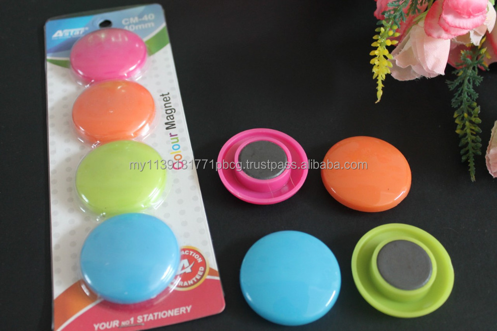 Round shape 40mm color magnet button for office, whiteboard, frige, freezer, school. Wholesale magnet button cheap sale!