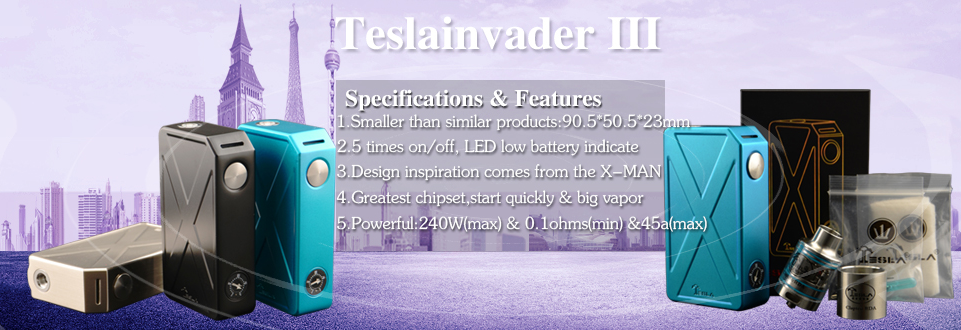 Youngjune newest products Teslacigs Shadow Mini Tank Unique bottom internal structure to ensure zero leaking.
