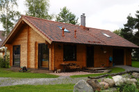 log house 92 sqm plus upstairs, low carbon foot print