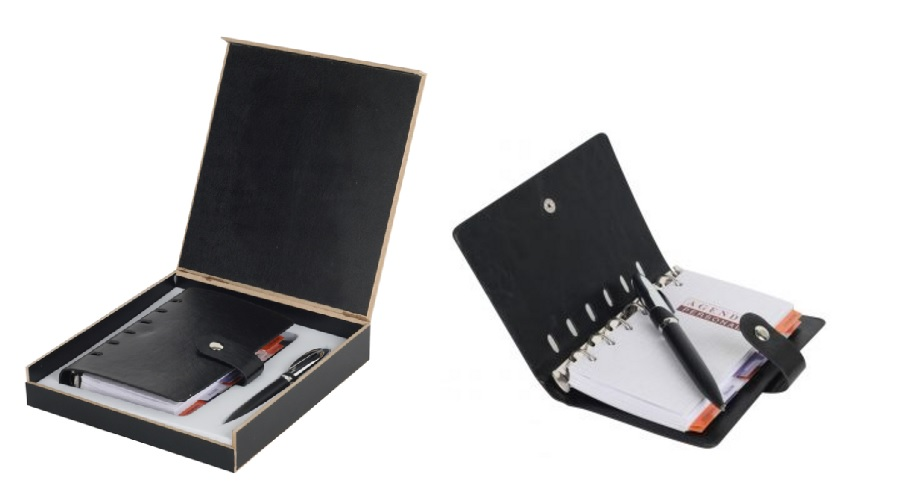 30404 2 in 1 Gift Set ( Organizer & Metal Pen) with personalized logo printing