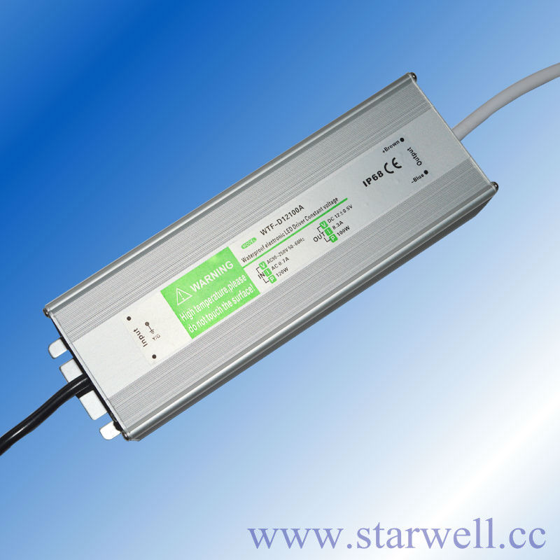 IP67 100W led power supply constant voltage