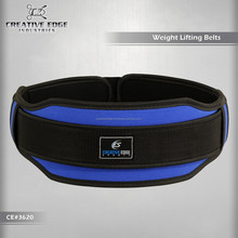 100% Blue Neoprene Weight Lifting Belt / Top Custom Weight Lifting Belts / Power Lifting Gym Body Building Belts