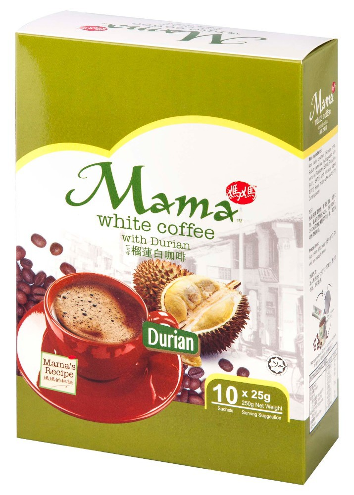 Mama 3 in 1 White Coffee with Durian, Halal product