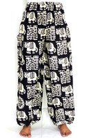Fisherman Thai Style Elephant straight Pant with side pocket-Wholesale rayon cotton straight pant-Traditional elephant pants