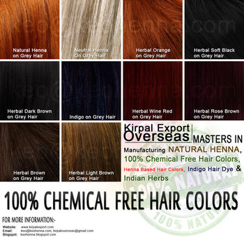 Organic Henna Hair Color Products