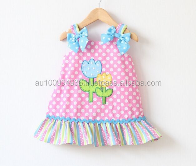 baby's emb dress, children's cute dress, Girl's flower dresses, MD-231