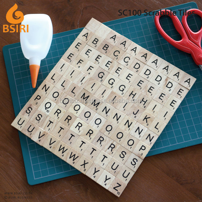 Letter A to Z Wooden Scrabble Tiles