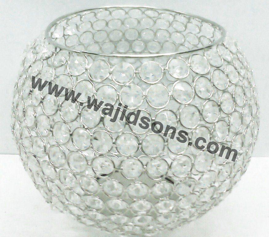 Outdoor events decoration crystal t.light holder for wholesale
