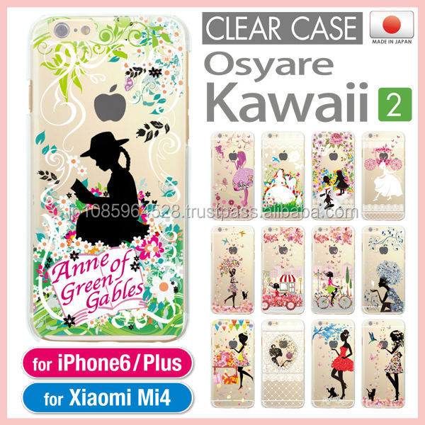 Cute colorful original clear cases as cell phone accessory