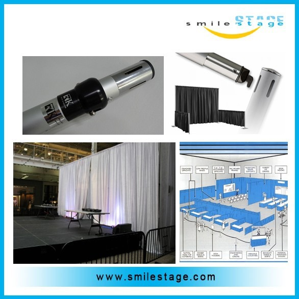 Aluminum tradeshow pipe and drape for sale with TUV certificate
