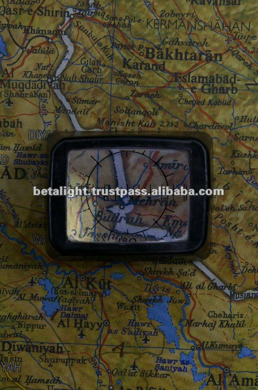 Tritium illuminated Map Reader/Magnifier