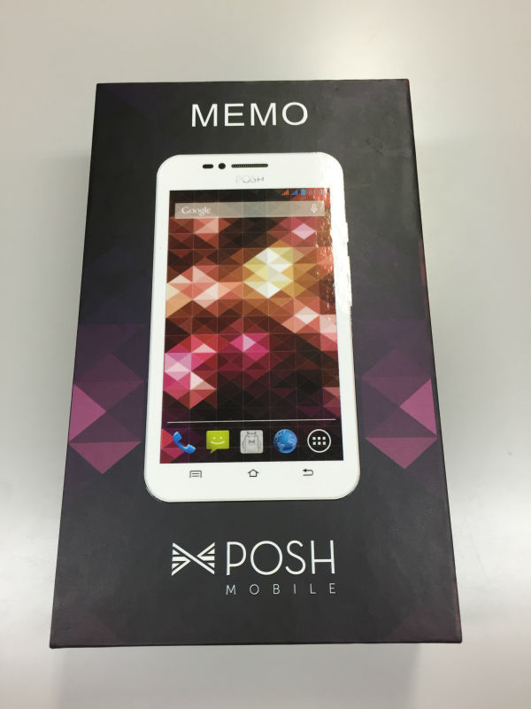 New POSH Mobile Memo mobile phone phablet made in usa with box and accessory