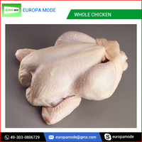 White Skin and Feather Off Whole Frozen Chicken
