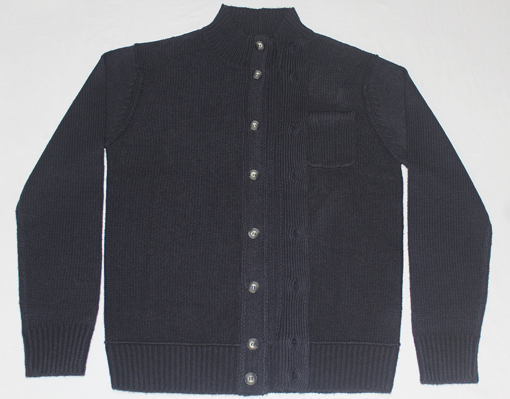 Men's button Men Cardigan with chest pocket Cardigan Navy