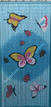 Deluxe Bamboo Door bead Curtain butterflies wall divider curtains