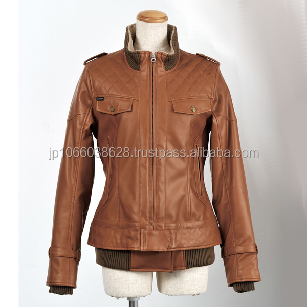 Stylish slim leather jacket by famous Japanese motorcycle apparel brand