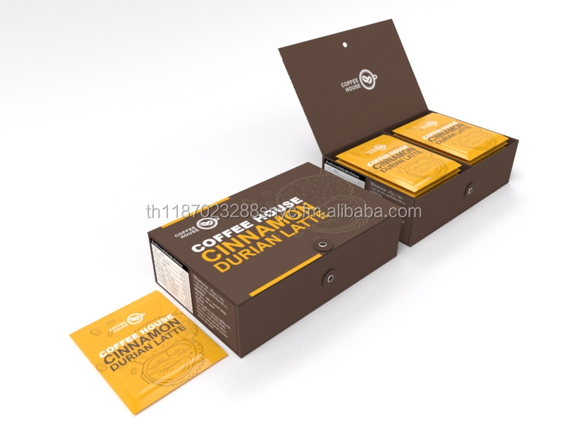 Thai Durian Cinnamon Latte 3 in 1 Coffee Mix Trans-fat free Premium Grade (not pungent)